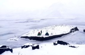 Yüzen adalar buz tuttu